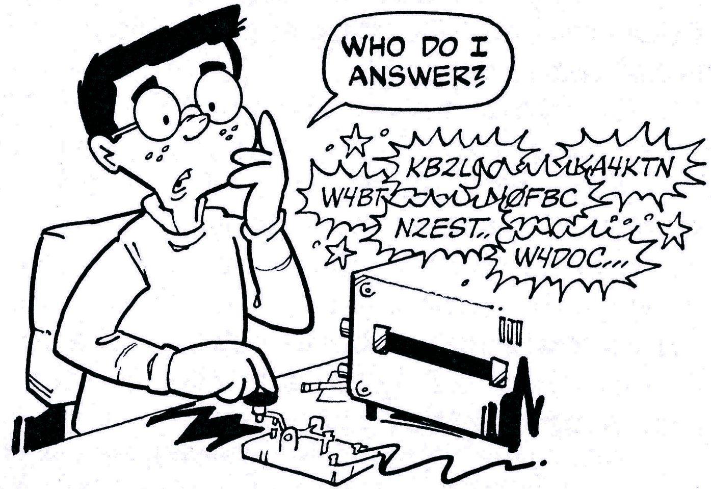 Ham Cartoon - What do I answer
